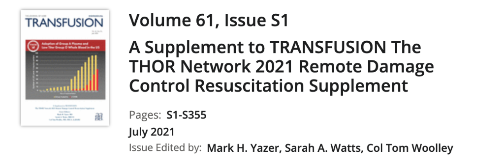 Published: THOR Network – TRANSFUSION, Vol 61, S1